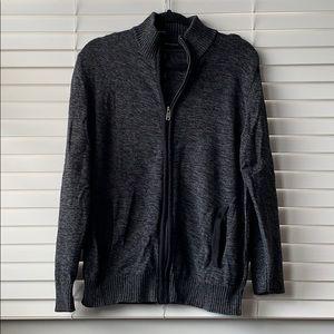 DKNY Front Zip Sweater Dark Gray M